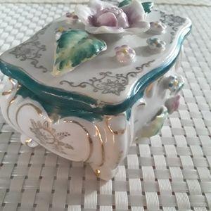 Vintage Ceramic Treasure Box